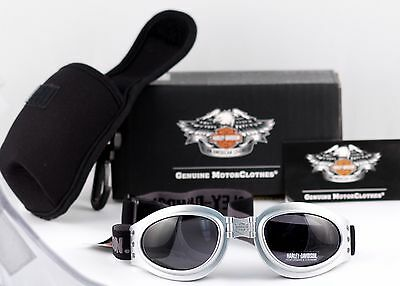 New Harley Davidson Sunglasses Goggles HDSZ 704 SI-3  New in Box Collapsible