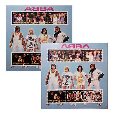 new Europe PopMusic Group Legend SuperStar ABBA 2015 stamps 6value Sheetlet GIFT