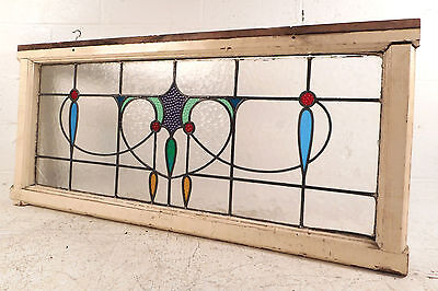 Vintage English Stained Glass Window Panel (2774)NJ