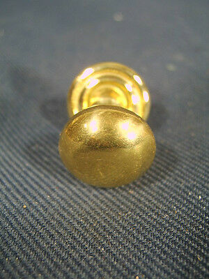 Vintage Stacking Bookcase Brass Knob 3/4 of an inch wide with Backing Plate