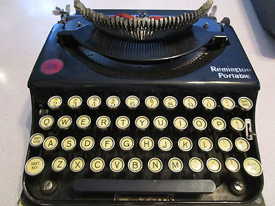 Antique Vtg 1920s Remington Portable EARLY Model Typewriter WORKS First? NL44957