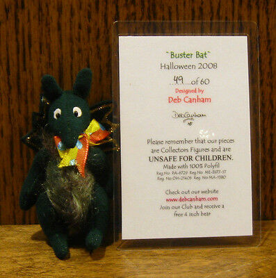 "DEB CANHAM Artist Designs BUSTER BAT, Halloween Coll., 2.5""  LE jointed"