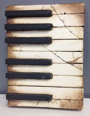 SID DICKENS Collectible T45 Retired Piano Keys Memory Block Wall Art SR
