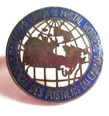 Canadian Union Of Postal Workers vintage sterling pin