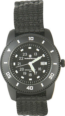 Smith & Wesson SWW5982 Wesson Commando Watch Black Face Luminous Markers Black