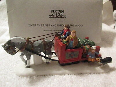 Heritage Village Series Over The River And Through The Woods Dept 56 #56545
