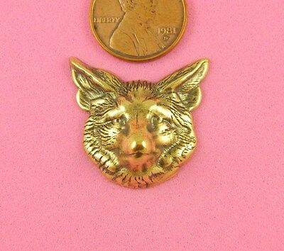 **CUTE AND CLEVER***ANT BRASS FOX HEAD-1 PC(s)