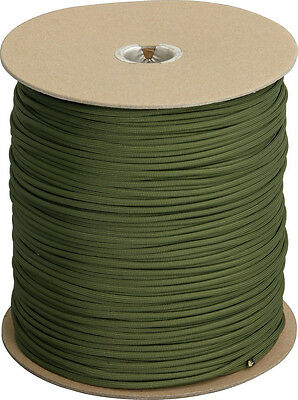 Parachute Cord RG023S Olive Drab 1000 Ft Length 7 Strand Rated For 550 Lbs