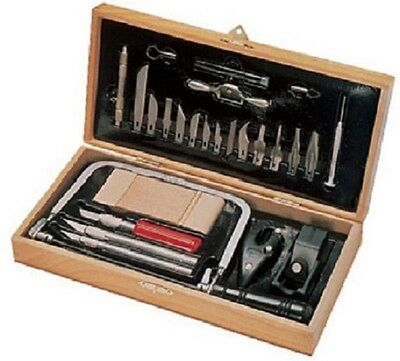 X-ACTO XT5087 Deluxe Hobby Tool Set w/ Hard Wood Portable Knife Carrying Case