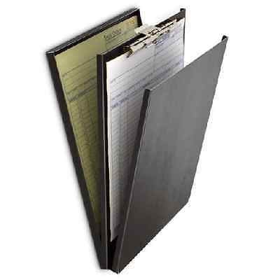 "Saunders 10117 Top Opening Black Vinyl A-Holder 8.5"" x12"" Clipboard Compartment"