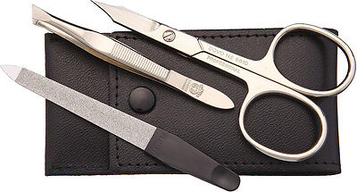 Dovo DOV960011 Pocket Nail Set With Scissors Leather Pouch Nickel Construction