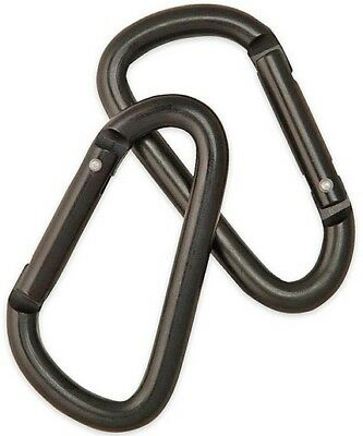"Camcon PF23010 Small Non-Locking Carabiners Black 2.25"" Overall Set Of 2"