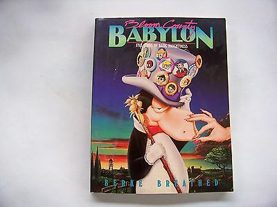 Bloom County Babylon.  Five Years of Basic Naughtiness, by Berk Breathed, Signed