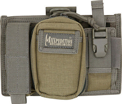 "Maxpedition MX324KF Triad Admin Pouch Khaki/Foliage Overall 8"" x 5"" x 2"" Middle"