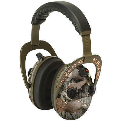 Walkers Game Ear GWP-AM360NXT Alpha Power Muff Quad 360 Camo Headphones w/Mic