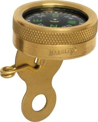 "Marbles MR1141 Pin-On Compass Brass Construction 1"" Diameter"