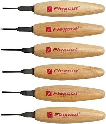 Flexcut FLEXMT910 Mixed Profile Carving Micro Tools Set Of 6