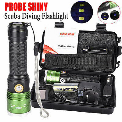 Waterproof 5000Lm XML L2 LED Scuba Diving Flashlight Torch Underwater 500M Set