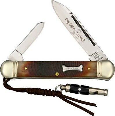 "Rough Rider RR1185 Dog Bone Muskrat Folding Jack Knife 3.75"" Folder Bone Handle"