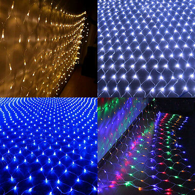6M*4M LED Fairy String Net Curtain Mesh 672 LEDs Ceiling Light Indoor & Outdoor