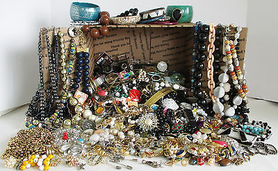 JUNK / CRAFT JEWELRY Lot 14+ Pounds Wear Repair Share WOW!