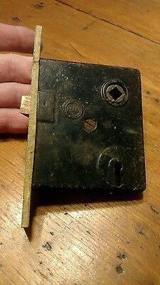 Vintage Penn Mortise Lock With Brass Faceplate
