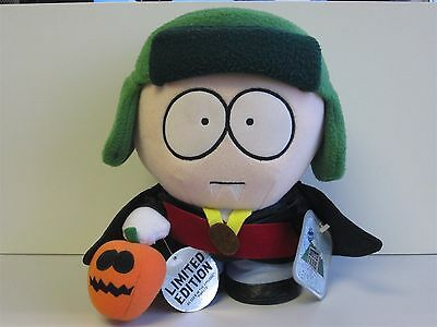 """South Park Limited Edition Plush Halloween Vampire KYLE 1998 with Tags 11"""" Aprx"""