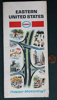 1968 Humble Oil Gas service station Eastern United States roadmap-Happy Motoring