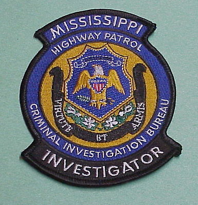 Mississippi Highway Patrol Investigator  ( Blue )  Police Patch  Free Shipping!!