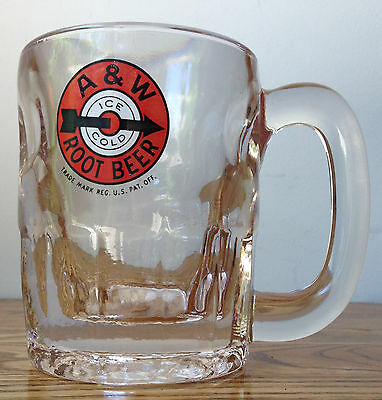 Vintage 1960's A & W ROOT BEER MUG 4-1/4 inch Tall