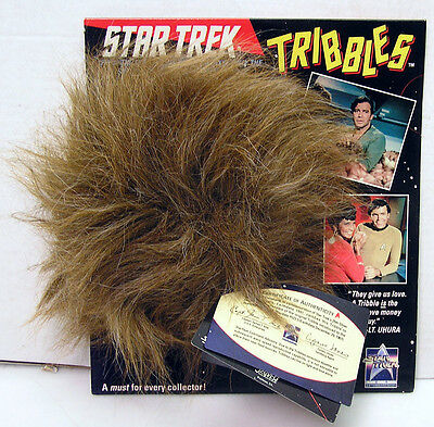 1991 Star Trek Official 25th Anniversary Tribble with COA- New on Card!!