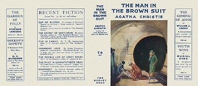 The Man In The Brown Suit - 1924 by Agatha Christie - Facsimile Dustjacket Only
