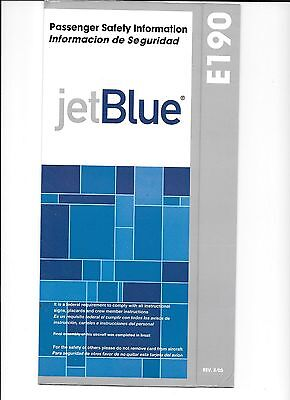 JetBlue Airlines E-190 Safety Card (8/05)