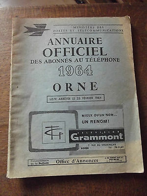 ancien annuaire 1964 ORNE