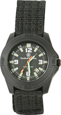 Smith & Wesson SWW-12T-N Wesson Soldier Watch Black Nylon Wrist Strap Tritium
