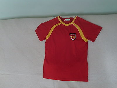 Boys 10-11-12 Years - Red Spain Espana Football Shirt  #9