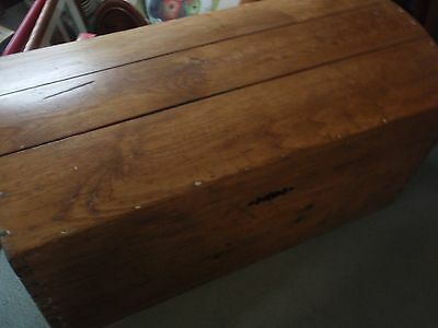 Antique Pine Domed Top Trunk