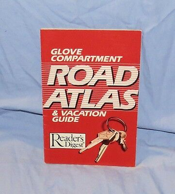 """1986 Reader's Digest~""""ROAD ATLAS & VACATION GUIDE""""~ Glove Compartment Size"""