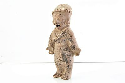 Pottery Artifact of Standing Figure in Ceremonial Dress. Pre-Columbian? (V3240)