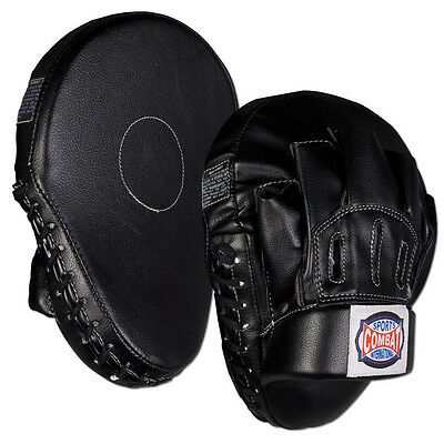 Combat Sports Curved Boxing Punch Mitts - Black