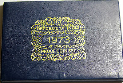 1973 Republic Of India 10 Coin Proof Set Bombay Mint With Box And COA