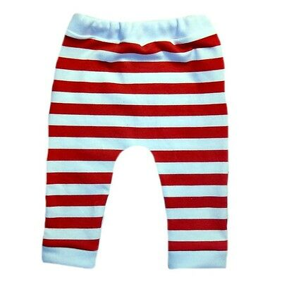 Red White Striped Christmas Baby Leggings 6 Preemie Newborn and Toddler Sizes.