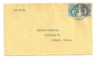 1948 Nigeria Bi Franked Airmail Cover Lagos To Usa
