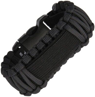 Survco Tactical WBBLKADJGS1 Replacement ParaCord Watch Band Black