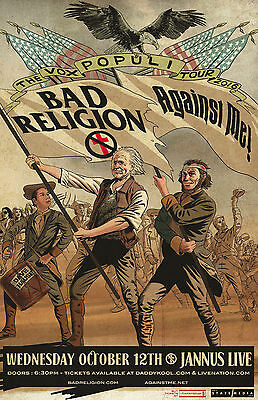 Bad Religion with Against Me * ORIGINAL CONCERT POSTER * rare * limited *