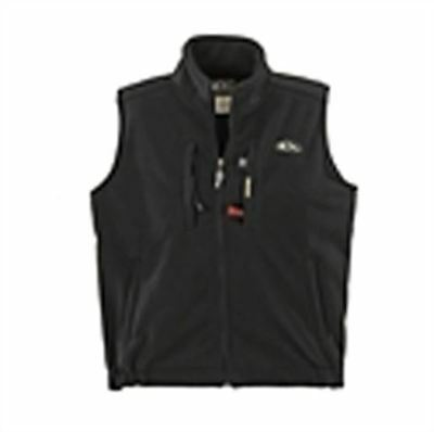 DW16037 Drake Waterfowl MST Windproof Layering Vest-Solid Black Large