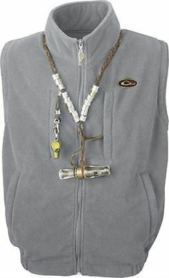 Drake DW160238 Waterfowl MST Windproof Layering Vest-Solid Gray Medium