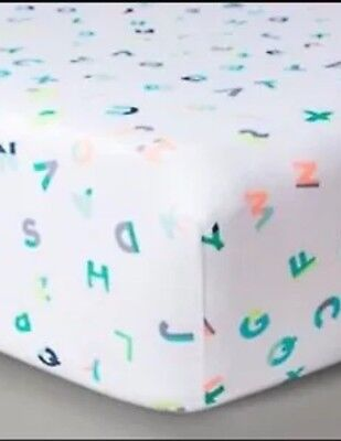Oh Joy! Target ABC Alphabet Fitted Crib Sheet Letters Multi Baby New