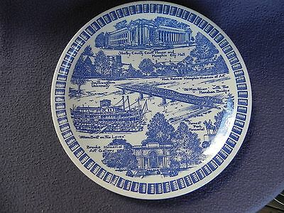 Vernon Kilns Collector Plate Memphis on the Mississippi Lowensteins
