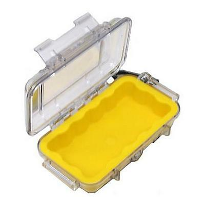 Pelican Micro Case 1015 Polycarbonate Clear with Yellow Liner 1015-CLEAR YELLOW